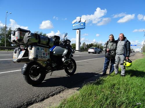 In Minsk, Belarus with a Belarussian friend...