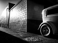 al capone (Robert Couse-Baker) Tags: infrared car vintage fragment highcontrast monochrome nb black