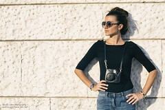 Let's take some Pic? (We're Born to Loose, But We Live to Win) Tags: athlondj christopherholland 50mm canon beautiful beauty woman portrait rome eur golden light white wall instant pix