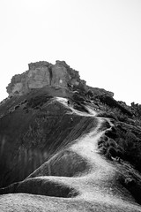 Dunes of dirt (lorenzoviolone) Tags: bw blackwhite blackandwhite d5200 dslr hill monochrome nikon nikond5200 plants reflex rocks vsco vscofilm clearsky cliff flare hike hiker hiking mountain path sunflare travel:malta=aug2016 walking mgarr malta fav10