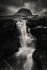 Waterfall of the Pirates (EXPLORED) (SkyeWeasel) Tags: scotland waterfall monochrome landscape blackandwhite westerross