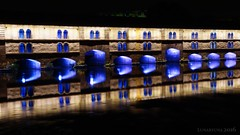 nightly enchantment at  Barrage Vauban - HWW! (lunaryuna) Tags: france lalsace strasbourg urban urbanconstructs architecture historicarchitecture landmark barragevauban night nighttime nightlight colours nightphotography nocturnalphotography urbanlandscape illumination defence reflections riverill lunaryuna seeingouble urbanmirrorworlds urbanabstract