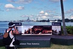 Pearl Harbor (AntyDiluvian) Tags: hawaii 2001 30thanniversary oahu honolulu pearlharbor attack ussarizonamemorial ussarizona visitorcenter 12741