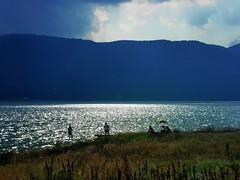 Storm is comming (R_Ivanova) Tags: nature landscape lake light lights colors color clouds cloud coast sony sky summer storm mountainside fishing rivanova