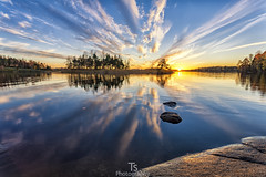 A moment before the night (Taavi Salakka) Tags: canon 5d 1740mm sunset saimaa lake water skyscape landscape waterscape clouds sun finland lappeenranta