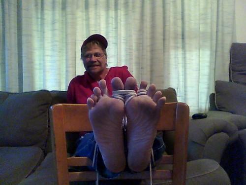 Tickle men feet