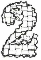 Wiggly Alphabet Number '2' (Judy's Creative Doodling) Tags: doodles zentangle creativedoodling