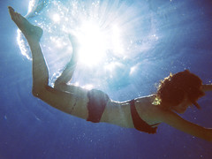 38/365 (alexis mire) Tags: sunlight pool swimming lumix underwater bubbles refraction pointandshoot waterproof alexismire