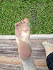 Dirty sole (eurekadest) Tags: male feet toes mud dirty barefoot soles muddy