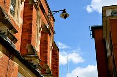 Lamp (Jack Lewandowski) Tags: street nottingham blue urban building lamp skyline photography perspective redbrick