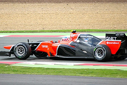 Charles Pic's Marussia at Silverstone