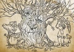 Arbol viejo (francundo) Tags: tree kid gato niño cheshirecat rbol arbolencantado charmedtree