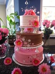 pink gerbera daisy cake (xLaurieClarkex) Tags: art cakes all rights tips recipes custom edible reserved creations tutorials xlaurieclarkex wwwsweetcelebrationsus sweetcelebrationsus sweetcelebrationsuscakes