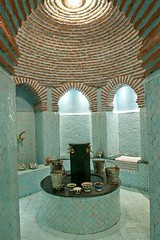 A charming hotel in Marrakech (Muriel Alvarez) Tags: voyage travel pink red hotel purple violet maroc marrakech lovely charming baroque riad morrocco marocain