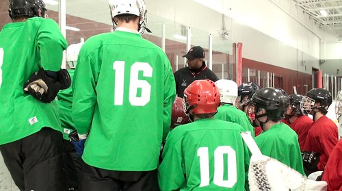 Brad Perry Coaching at junior and collage showcase 2012