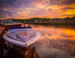 ~That's All For One Day~ (Adettara Photography) Tags: sunset sky seascape color water clouds marina reflections boat md northbeach chesapeakebeach colorphotoaward adettara adettaraphotography