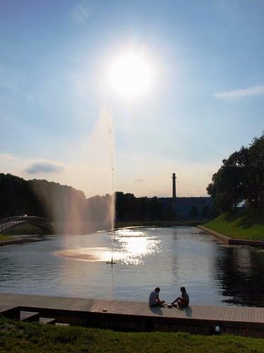 fountain in Piarnu