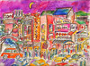 FUN IN YOKOHAMA'S CHINATOWN 1961 (roberthuffstutter) Tags: style expressionism impressionism huffstutter watercolorsbyhuffstutter artmarketusa