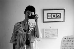 just a reminder (ⓒ keico) Tags: camera travel summer bw selfportrait me fuji expired ilford kanazawa xp2400 2011 klasses