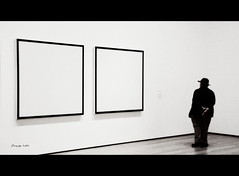 What? (jfraile (OFF/ON slowly)) Tags: blackandwhite bw white newyork abstract art byn blancoynegro blanco museum painting arte moma abstraction museo javier abstracto pintura nuevayork fraile abstraccion flickraward platinumh