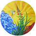 """Scarlet Lobelia,"" acrylic on canvas. Artist: Marion Bradish. www.facebook.com/riverflowstudio"