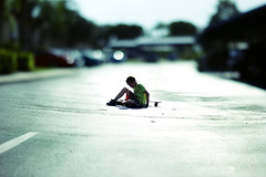 Setbacks (Izzy Guttuso) Tags: road street boy summer fall cars photoshop 50mm dof little florida bokeh brother neighborhood longboard skater f18 dslr longboarding longboarder