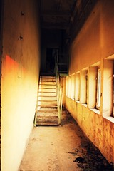 stairs in a closed paper mill (rozencwajgowa) Tags: old stairs factory ruined lastfloor eos550d