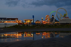 DSC_2464 (Christina Nalio) Tags: reflection puddle pier newjersey boardwalk rides wildwood jerseyshore moreyspier