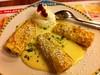 Jause (austrianpsycho) Tags: linz essen sauce sahne photostream teller speise nachspeise palatschinken möbelhaus obers xxxlutz