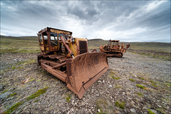bulldozer_1 (mhauhia) Tags: abandoned iceland nikon rust sigma scrapyard 1224mm bulldozer