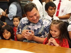 Gov. Eddie Calvo and Children