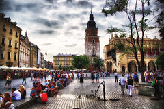 Poland  Cracow Main Square August 2012 (Smo_Q -listened to Heaven by E.Sande again and aga) Tags: street trip urban architecture poland polska krakow polen krakw cracow polonia cracovia krakau pologne architektura wycieczka  beautifulplaces        plazamercadocracovia