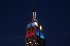 Israeli and North Korean Colors on the Empire State Building (masemase) Tags: nyc newyorkcity israel korea esb empirestatebuilding
