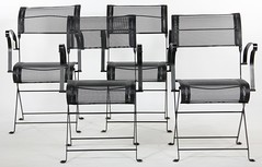 "2061. Four Fermob ""Dune"" Folding Chairs"
