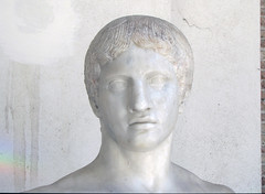 Polykleitos, Doryphoros detail with face