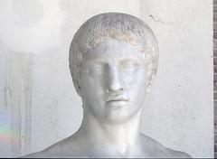 Polykleitos, Doryphoros detail with face