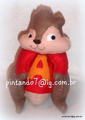 Alvin (Mnica Pintando7) Tags: felt feltro esquilos presente festainfantil lembrancinha pintando7 alvineosesquilos decoraodefestainfantil