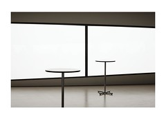 29/7 (obviously 5 believers) Tags: white window minimal chrome tables sliver mundane