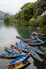Phewa Tal, Pokhara, Nepal (JAhrensy) Tags: travel nepal lake reflection water boats photography asia canoes pokhara phewatal d7000 meganahrens jahrensy megs6610