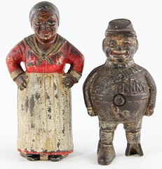 10. (2) Antique Figural Banks
