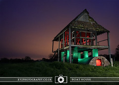Boat House (xyzphotography) Tags: england night dark photography unitedkingdom britain leicester sl lonely losted slowshutterspeed noctural