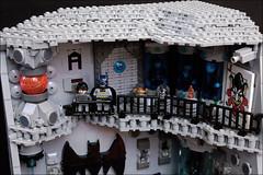 The BATCAVE-third floor (Fianat) Tags: castle rock dark batcave lego space bruce bat batman knight cave the