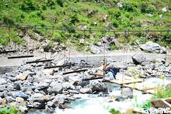 Pedestrian Bridge Under Construction on River Kunhar (Arthur Anab Shams (Cheetoo)) Tags: naran saifulmaluk lalazar riverkunhar jalkhad babusarpass lulusarlake babusartop pyalalake gitidaspologround