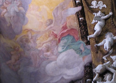 Bernini, Vaulting Fresco at right, Cornaro Chapel, Santa Maria della Vittoria
