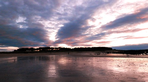 yellowcraigs beach sunset