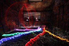 Orb escapes due to pesky glow sticks (therealpetesmith) Tags: lightpaint abcopen:project=nat2