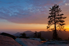 Beetle Rock Sunset #1, Sequoia National Park (flatworldsedge) Tags: california sunset rock pine clouds nationalpark haze beetle sequoia yahoo:yourpictures=yoursummer