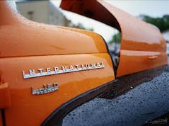 CWP_20160801_0006-3 (christopher wolf photography) Tags: truck international orange black car show mamiya m645 1000s kodak ektar 100 montgomery mn