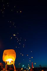 Fly high... (Tomislav C.) Tags: 2016 adriatic croatia hrvatska kvarner pentaxk3 rijeka city flame flight humanitarian lampioni lanterns light night panorama pier port sky summer sunset town primorskogoranskaupanija hr