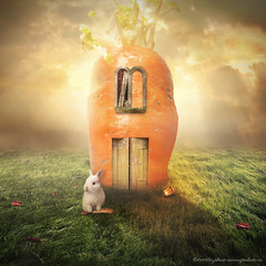 carrot (evenliu photography) Tags: photomanipulation photoshop photoedit dream dreamscape surreal unreal heaven imagine creative creation digital digitalart carrot evenliu art light cloud
